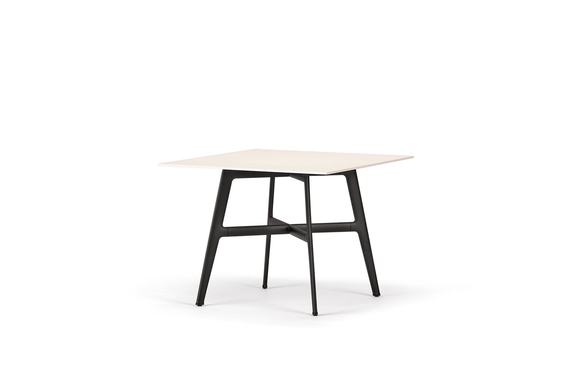 Dedon Seax Diningtable 100x100cm White-Black