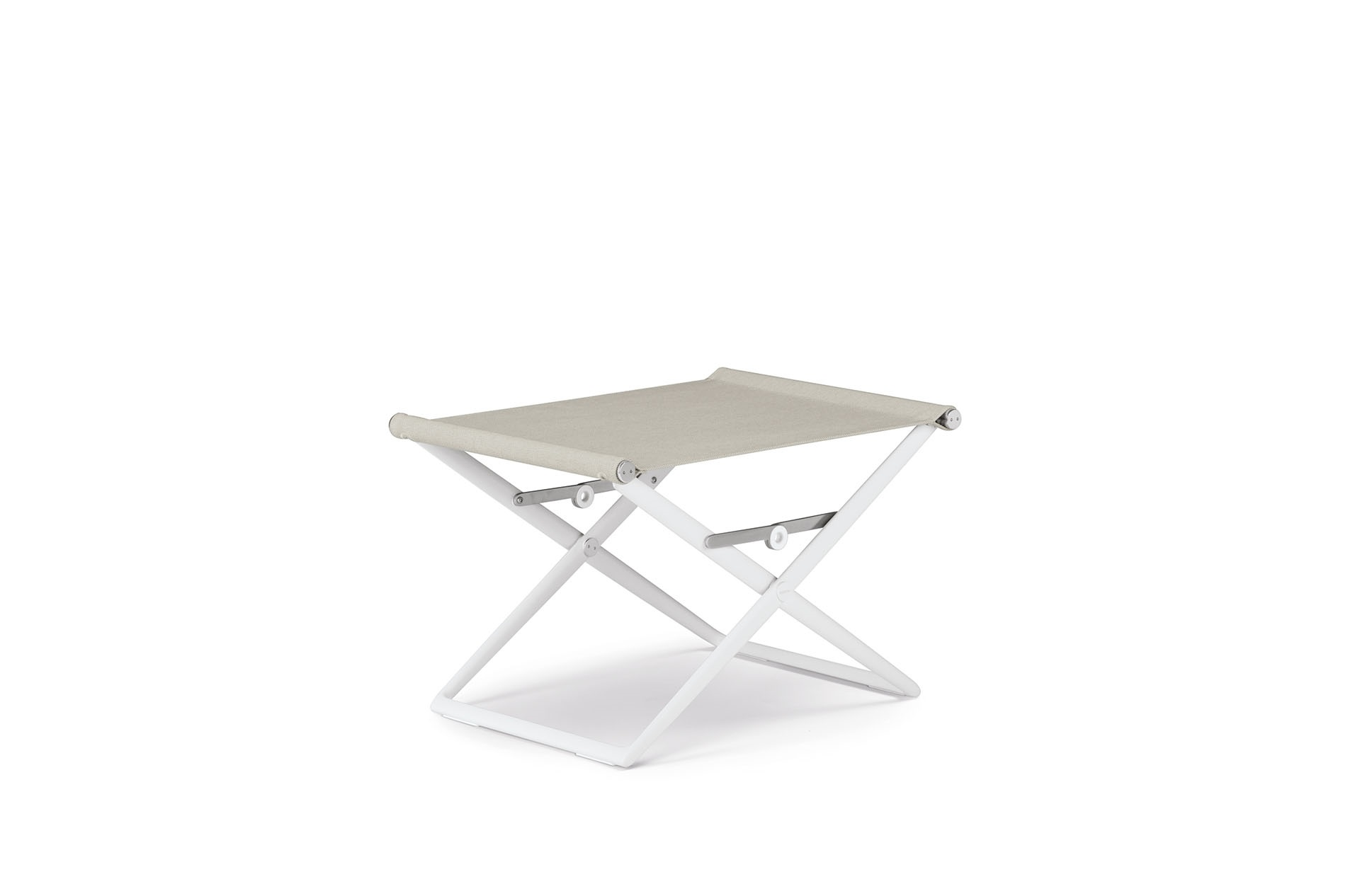 Dedon Seax Footstool White Sail Dove