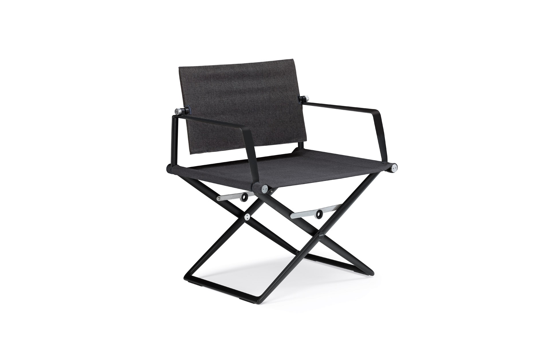 Dedon Seax lounge chair black sail shade