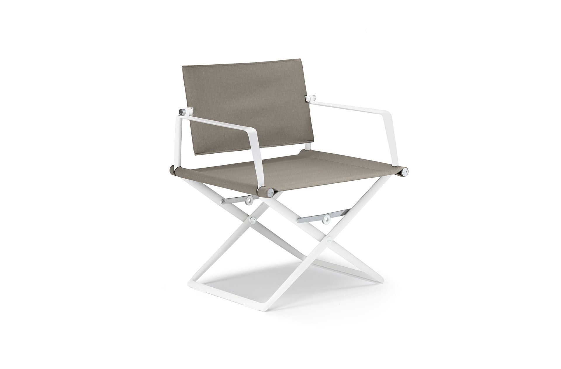 Dedon Seax Loungechair White Sail Taupe White